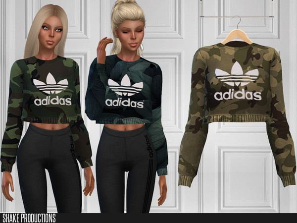 Sims 4 297 Crop T Shirt by ShakeProductions at TSR