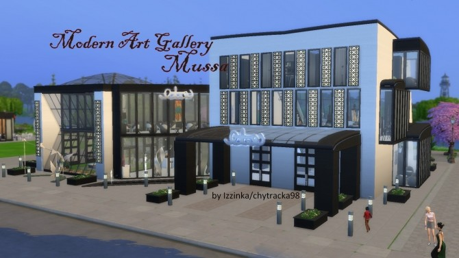 Modern Art Gallery Mussa by chytracka98 at Mod The Sims image 5010 670x377 Sims 4 Updates