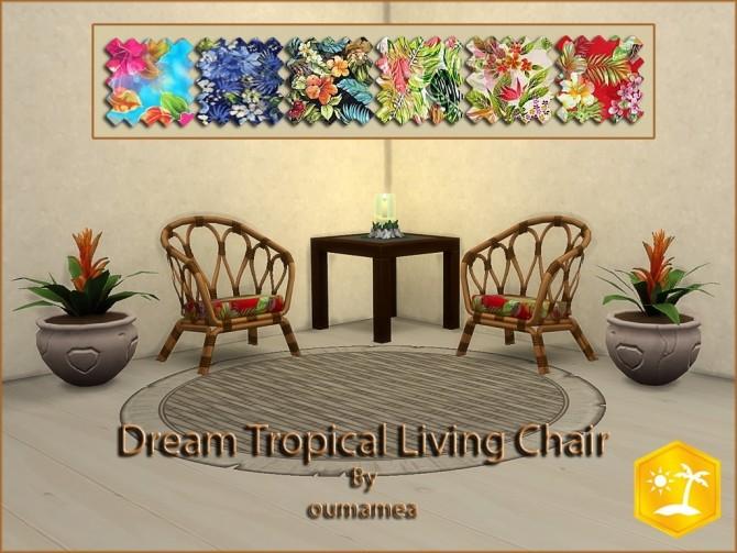 Sims 4 Dream Tropical Living Set by oumamea at Mod The Sims