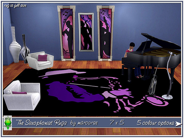 Sims 4 The Saxophonist Rugs by marcorse at TSR