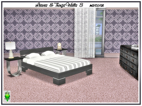 Leaves and Things Walls by marcorse at TSR image 516 Sims 4 Updates