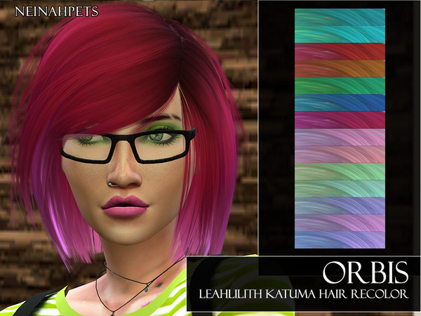Orbis LeahLilith Katuma Hair Recolor by neinahpets at TSR image 5311 Sims 4 Updates