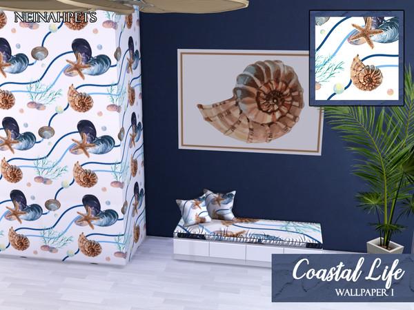 Coastal Life Wallpaper by neinahpets at TSR image 54 Sims 4 Updates