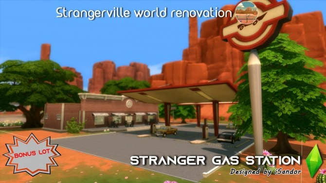 Sims 4 Strangerville renew #12 Gas station by iSandor at Mod The Sims