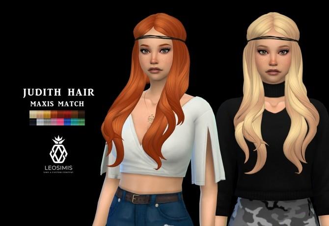 Sims 4 Judith Hair (P) at Leo Sims