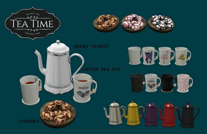 Tea Time set (P) at Leo Sims image 581 670x434 Sims 4 Updates