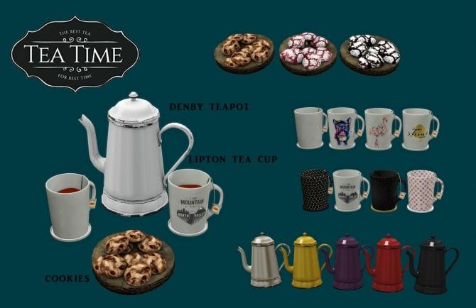 Tea Time set (P) at Leo Sims image 581 670x434 Sims 4 Updates