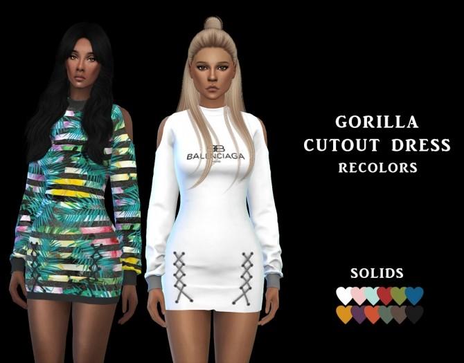 Sims 4 Cutout Dress RC at Leo Sims