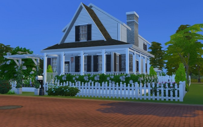 Sims 4 Simple Family Cottage by AmelieItsMe at Mod The Sims