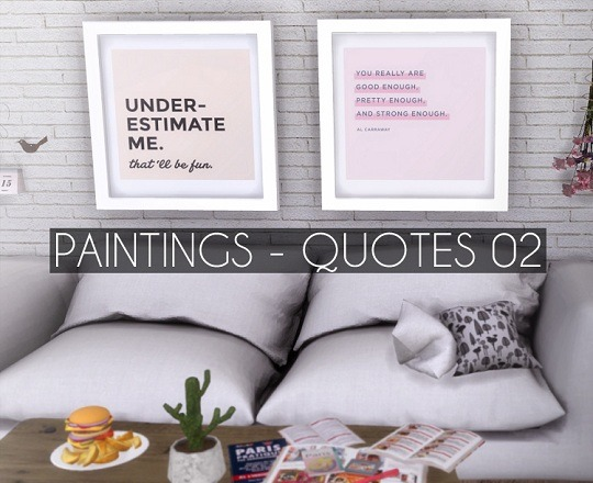 Sims 4 Paintings Quotes 02 at Descargas Sims