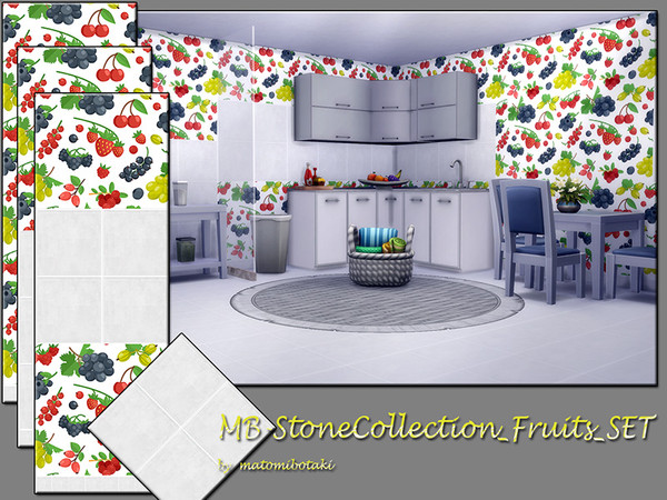 Sims 4 MB Stone Collection Fruits SET by matomibotaki at TSR