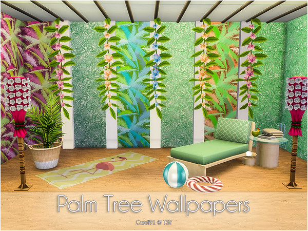 Palm Tree Wallpapers by Caroll91 at TSR image 612 Sims 4 Updates