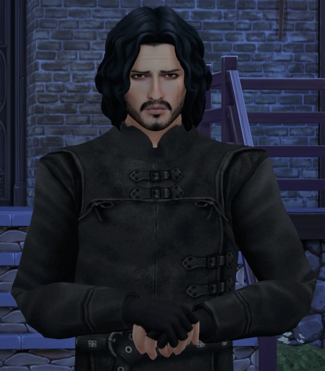 Game of Thrones Sword In The Darkness Jon Snow Nights Watch Outfit by HIM666 at Mod The Sims image 6212 670x764 Sims 4 Updates