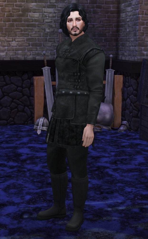 Game of Thrones Sword In The Darkness Jon Snow Nights Watch Outfit by HIM666 at Mod The Sims image 6310 622x1000 Sims 4 Updates