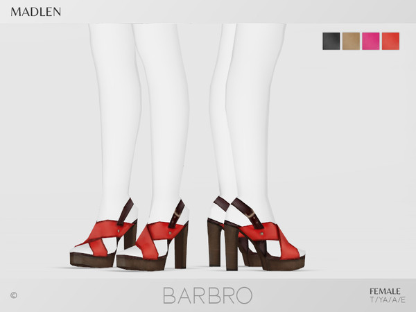 Sims 4 Madlen Barbro Shoes by MJ95 at TSR
