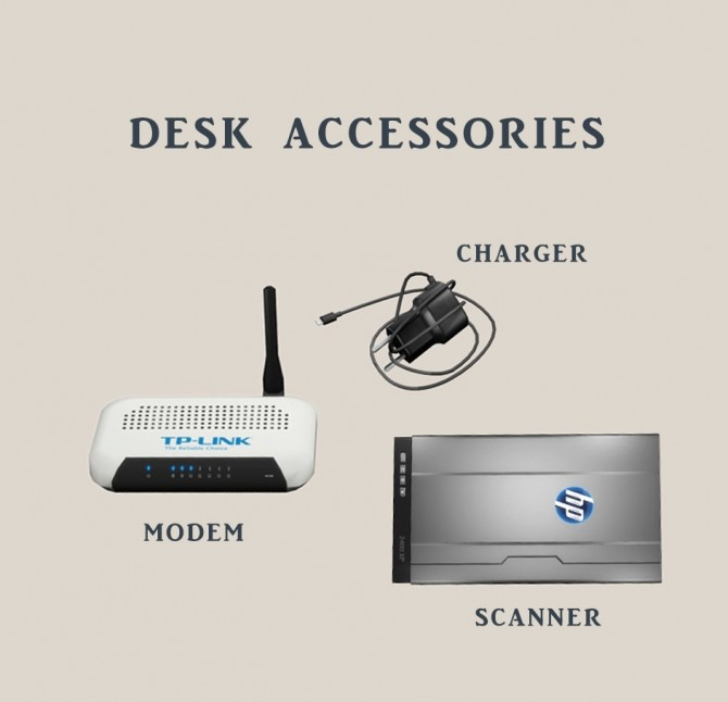 Sims 4 Desk Accessories at Leo Sims