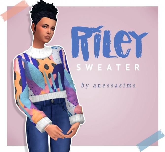 Riley sweater at Anessa Sims image 6418 670x619 Sims 4 Updates