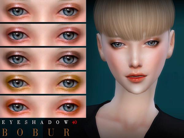 Sims 4 Eyeshadow 40 by Bobur3 at TSR