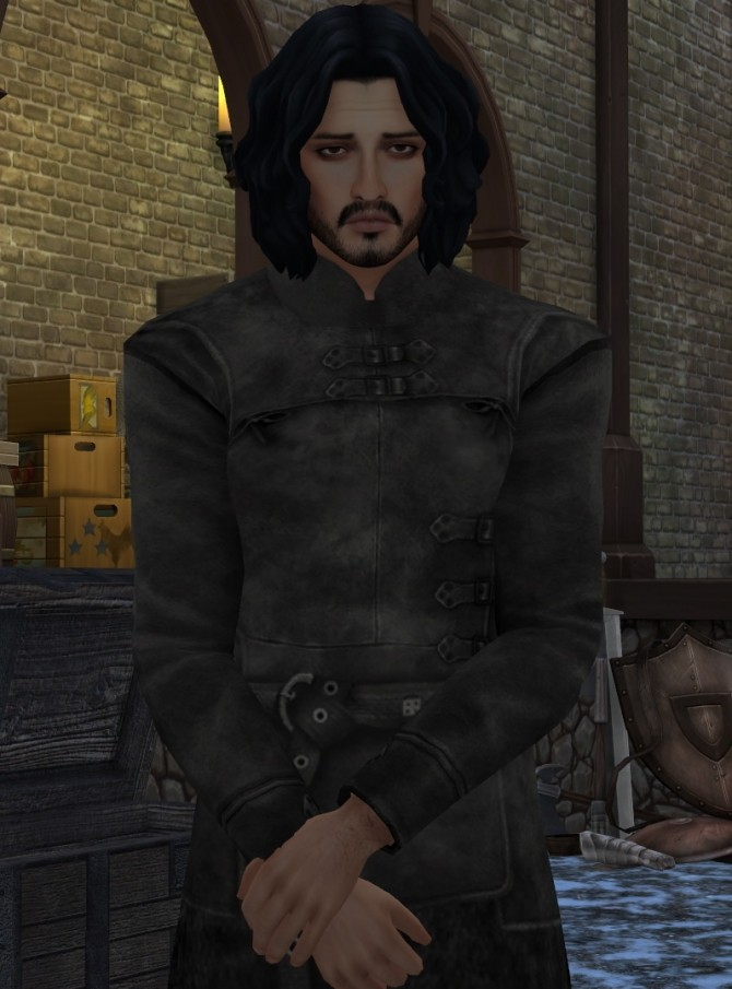 Game of Thrones Sword In The Darkness Jon Snow Nights Watch Outfit by HIM666 at Mod The Sims image 6510 670x905 Sims 4 Updates