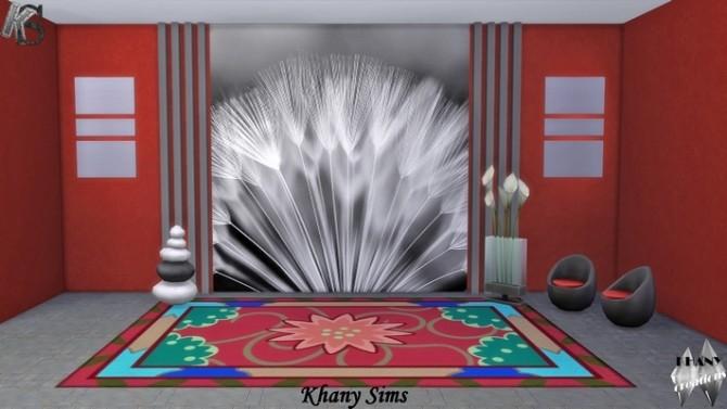 Sims 4 Nature Wall at Khany Sims