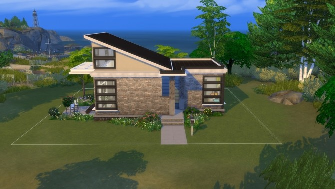 Sims 4 Retro Contemporary Tiny House by Vulpus at Mod The Sims
