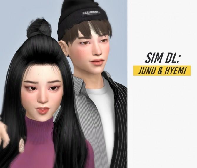 Sims 4 Junu & hyemi at Casteru