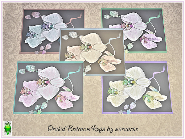 Sims 4 Orchid Bedroom Rugs by marcorse at TSR