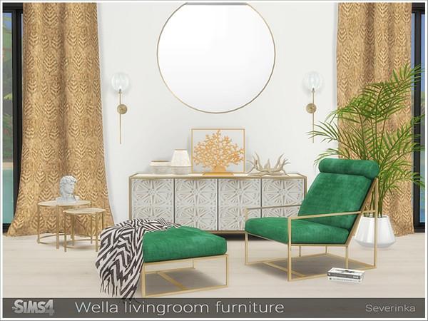 Sims 4 Wella livingroom furniture by Severinka at TSR