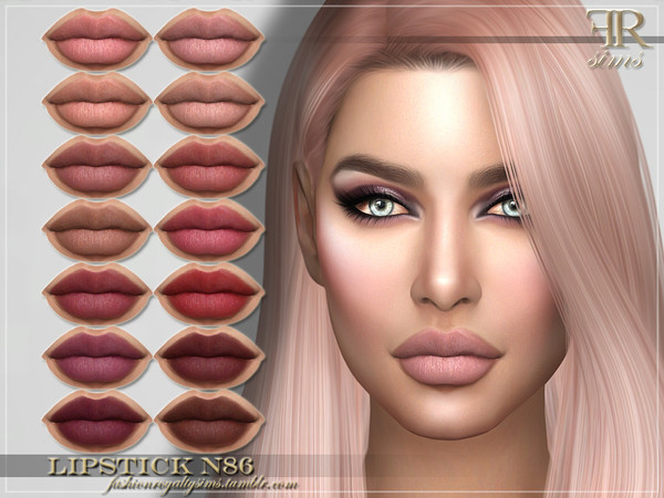 Sims 4 FRS Lipstick N86 by FashionRoyaltySims at TSR