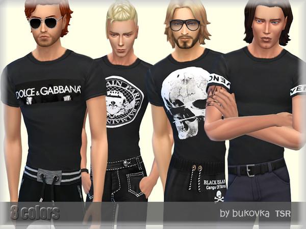 Sims 4 Black Shirt by bukovka at TSR
