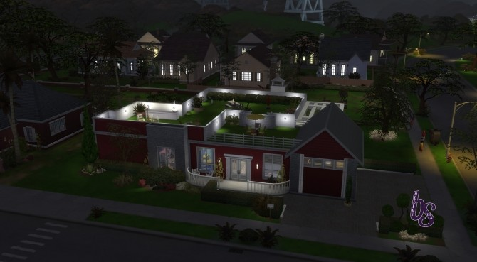 Sims 4 Grass Roof Modern Home by frogg ett at Mod The Sims