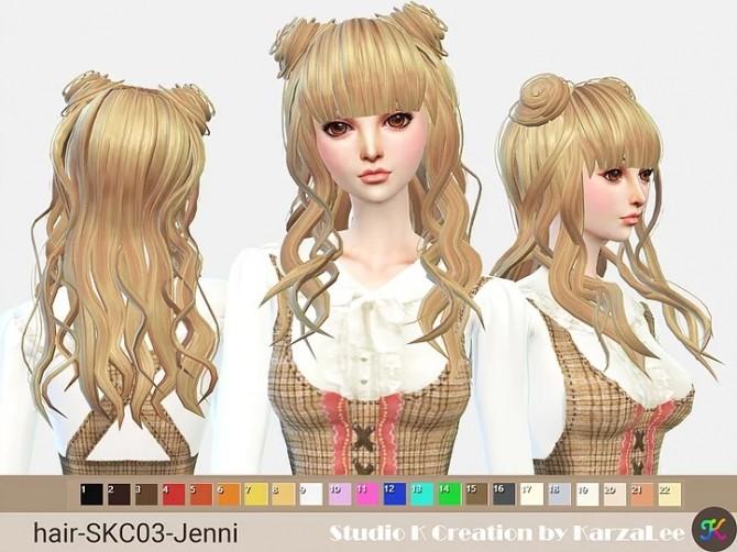 Sims 4 Jenni hair SKC03 at Studio K Creation