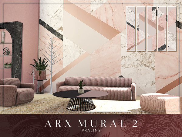 Sims 4 ARX Murals by Pralinesims at TSR