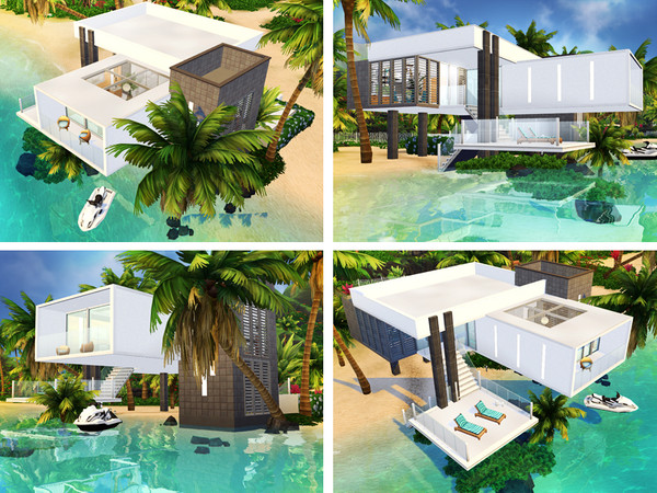 Sims 4 Dale contemporary house by Rirann at TSR