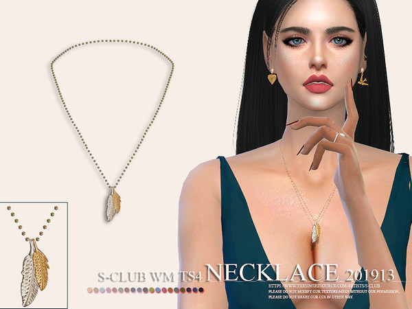 Sims 4 Necklace 201913 by S Club WM at TSR
