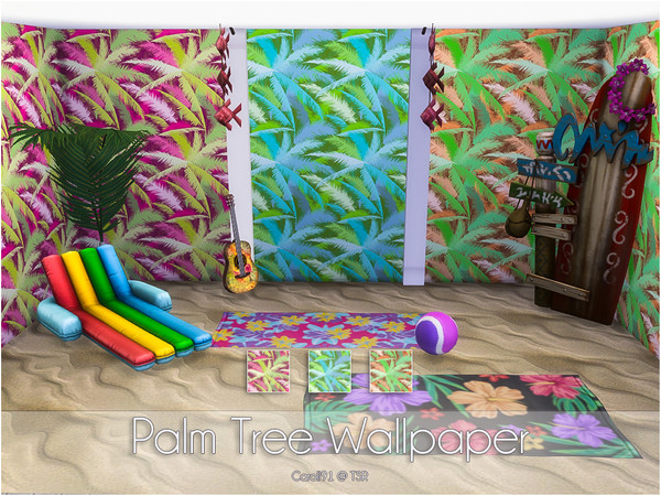 Palm Tree Wallpapers by Caroll91 at TSR image 712 Sims 4 Updates