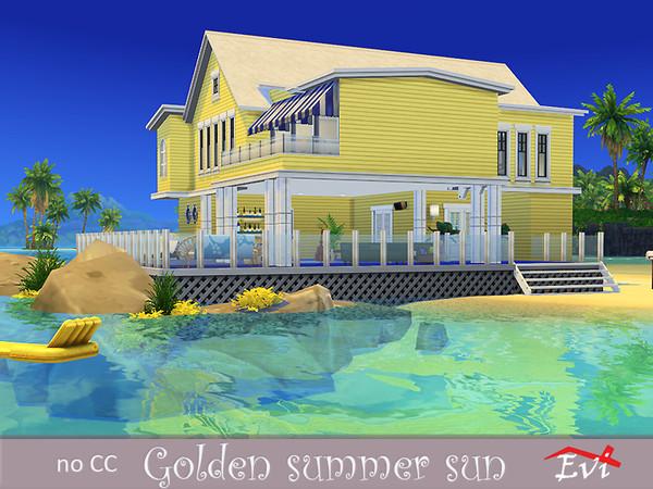 Sims 4 Golden Summer Sun beach house by evi at TSR