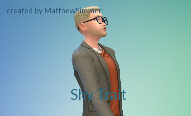 Sims 4 Shy Trait by MatthewSimmer at Mod The Sims