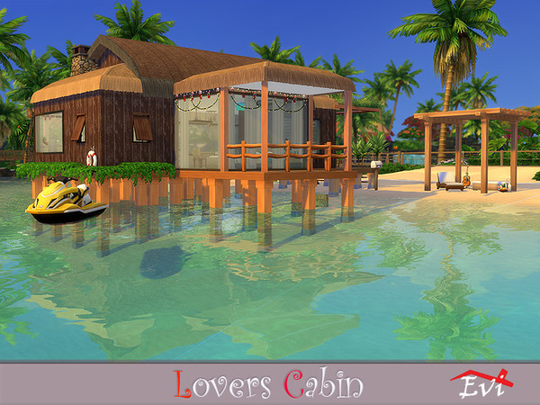 Sims 4 Lovers Cabin by evi at TSR