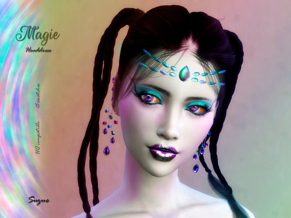 Sims 4 Magie Headdress by Suzue at TSR