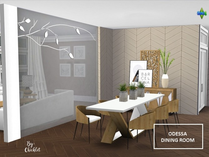 Odessa Dining Room at Simthing New image 757 670x503 Sims 4 Updates