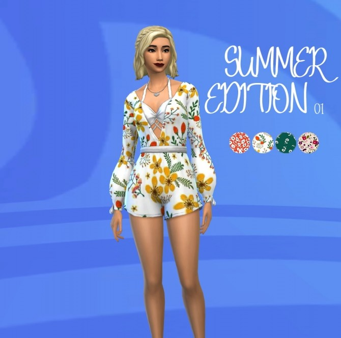 Sims 4 Summer Edition 01 romper at Celinaccsims