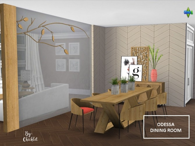 Odessa Dining Room at Simthing New image 767 670x503 Sims 4 Updates