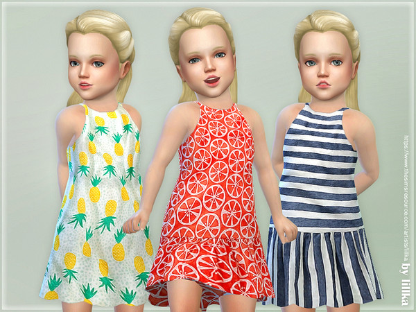 Sims 4 Toddler Dresses Collection P103 by lillka at TSR