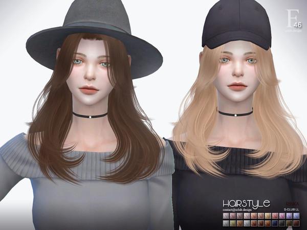 Sims 4 Rinka n47 hair by S Club at TSR