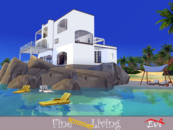 Fine summer Living house by evi at TSR image 779 Sims 4 Updates
