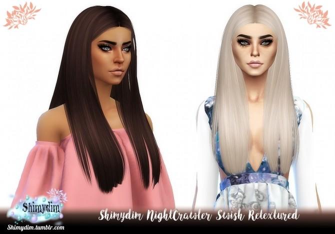 Sims 4 NightCrawler Swish Hair Retexture Naturals + Unnaturals at Shimydim Sims