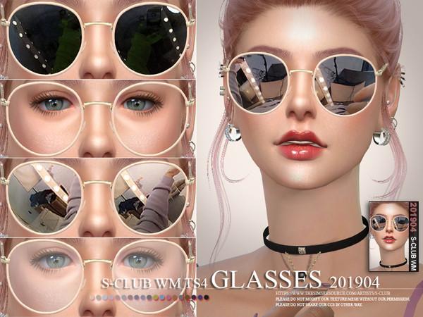 Sims 4 Glasses 201904 by S Club WM at TSR