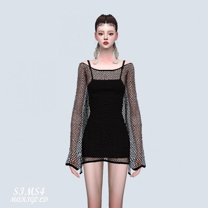 Sims 4 See through Knit Dress (P) at Marigold