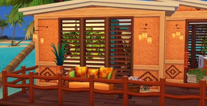 Sims 4 STARTER HOUSE ON ISLAND LIVING at Celinaccsims